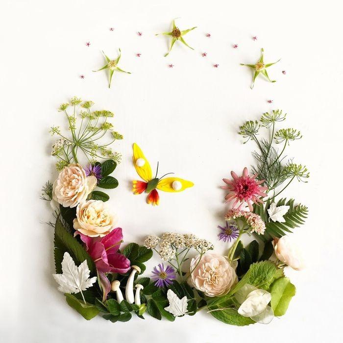 Người phụ nữ biến những cánh hoa thành tranh nghệ thuật - ảnh 3