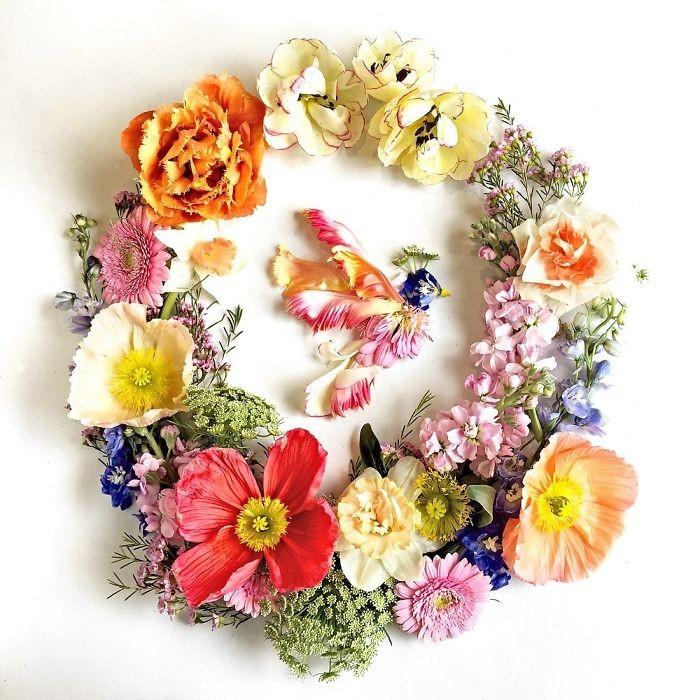Người phụ nữ biến những cánh hoa thành tranh nghệ thuật - ảnh 4