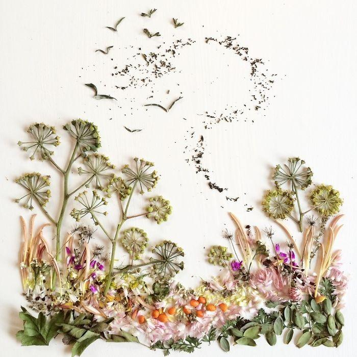 Người phụ nữ biến những cánh hoa thành tranh nghệ thuật - ảnh 5