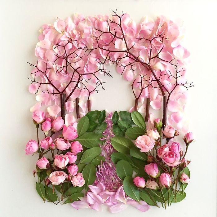 Người phụ nữ biến những cánh hoa thành tranh nghệ thuật - ảnh 12