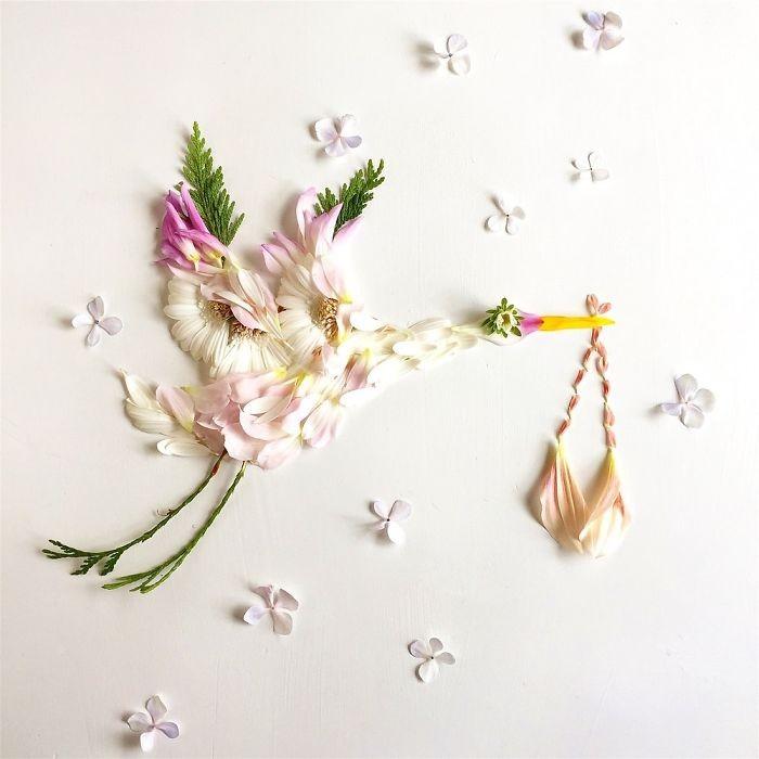 Người phụ nữ biến những cánh hoa thành tranh nghệ thuật - ảnh 19
