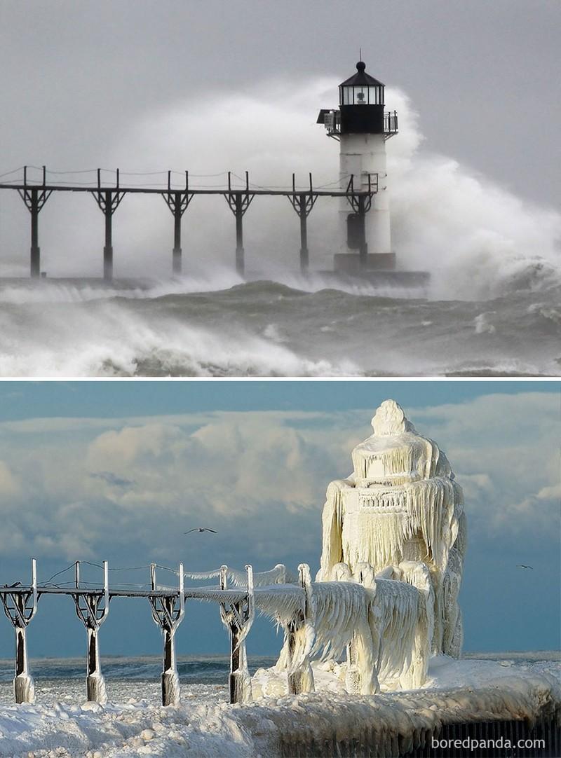Chùm ảnh: Mùa đông đã biến đổi thế giới như thế nào? - ảnh 1