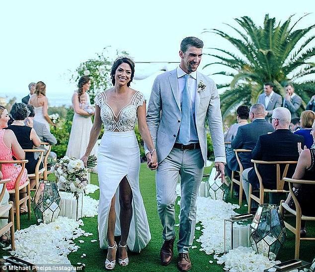 Kình ngư Michael Phelps lộ clip đám cưới - ảnh 1