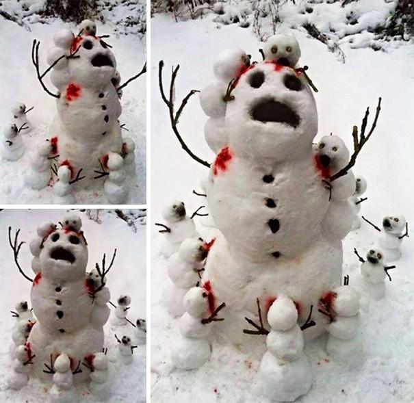 Những người tuyết kinh dị nhất thế giới - ảnh 5