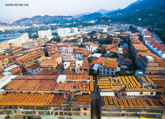 Choáng với cảnh phơi hồng ngập nóc nhà ở Trung Quốc - ảnh 1