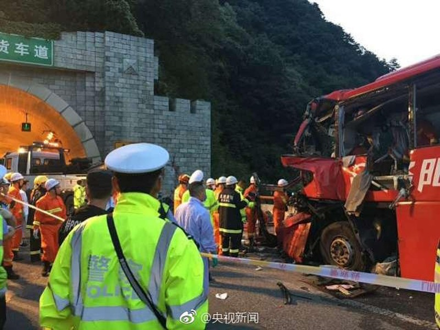 Tai nạn kinh hoàng ở Trung Quốc, hàng chục người chết - ảnh 1
