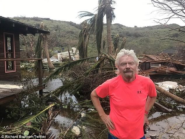 Nhà tỷ phú Richard Branson tan hoang sau bão Irma - ảnh 1