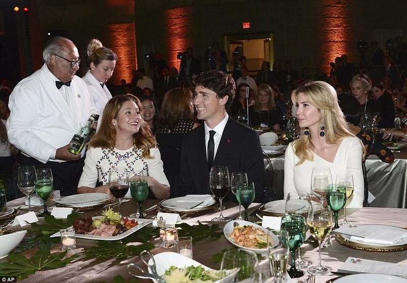 Ivanka Trump tái ngộ thủ tướng Canada điển trai - ảnh 1