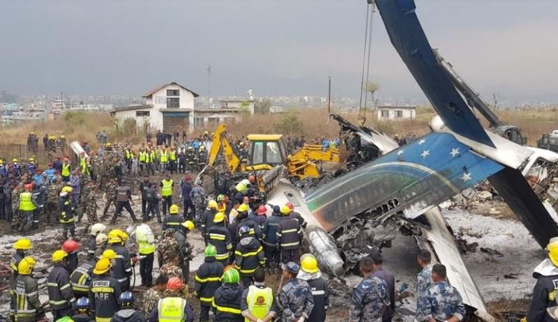 Máy bay rơi ở Nepal: Ít nhất 49 người chết - ảnh 1