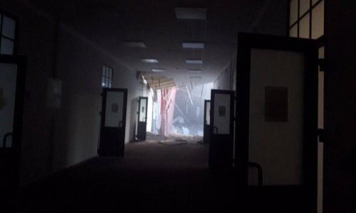 Sập tòa nhà trường đại học ở Nga, sơ tán an toàn 86 người - ảnh 1