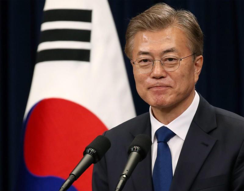 Ông Moon ngưng lịch công tác để theo dõi thượng đỉnh Mỹ-Triều - ảnh 1