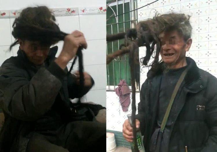 Choáng với cụ ông 54 năm chưa chịu cắt tóc - ảnh 1