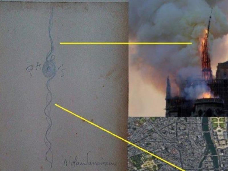 Bức tranh cổ tiên tri vụ cháy Nhà thờ Đức Bà Paris - ảnh 1