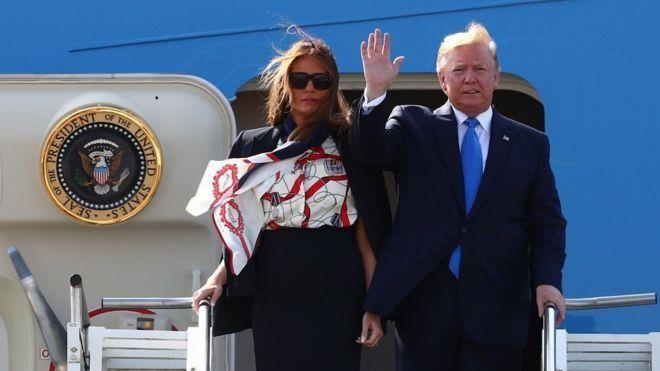 Tổng thống Trump đến Anh, bắt đầu lịch trình dày đặc 3 ngày  - ảnh 1