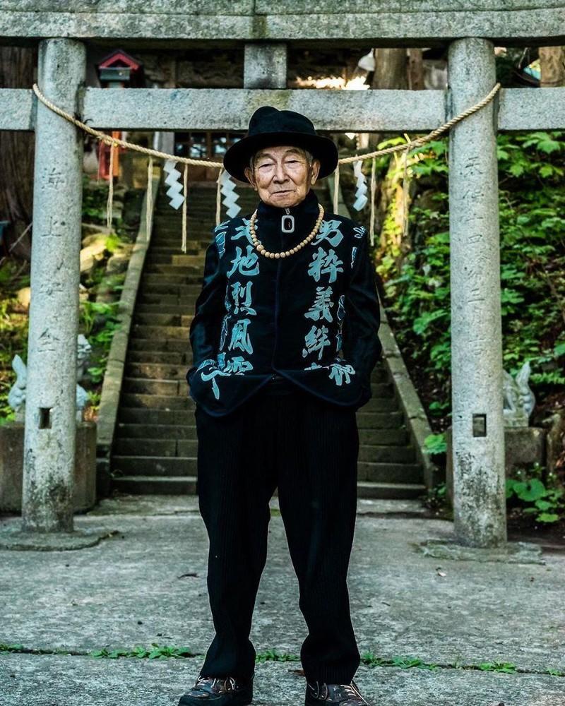 Choáng với độ 'ngầu' ông nội thời trang Nhật Bản - ảnh 5