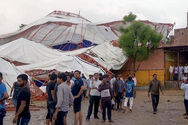 Sập lều lễ hội ở Ấn Độ khiến 64 người thương vong - ảnh 1
