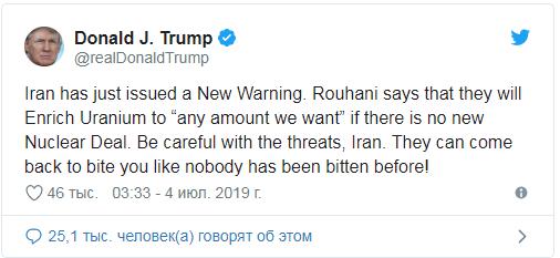 Ông Trump cảnh báo Iran về việc tăng mức làm giàu Uranium - ảnh 1