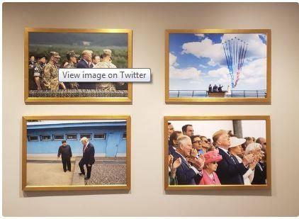 Nhà Trắng treo ảnh ông Trump-Kim gặp nhau ở Bàn Môn Điếm - ảnh 1