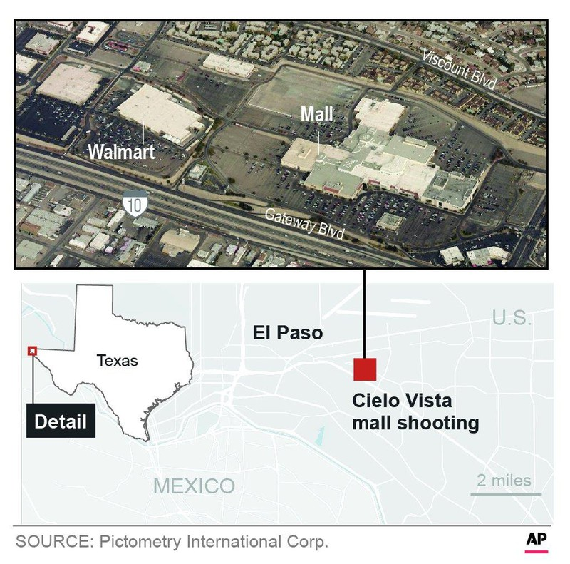 Xả súng kinh hoàng tại Siêu thị Walmart, 18 người chết - ảnh 2