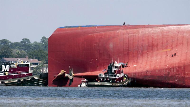 Mỹ giải cứu 4 thuyền viên Hàn Quốc mất tích trong vụ lật tàu  - ảnh 1
