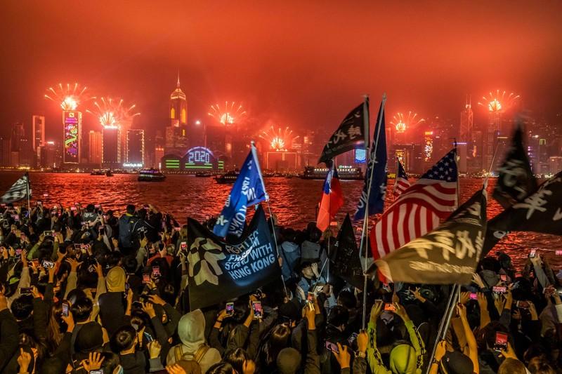 Hình ảnh thế giới ngập tràn trong pháo hoa đón năm mới - ảnh 4