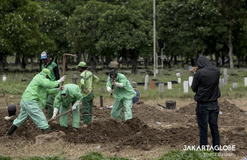 Cận cảnh quy trình an táng người mất vì COVID-19 tại Indonesia - ảnh 4