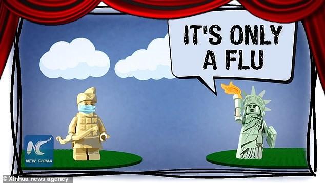 Trung Quốc làm phim hoạt hình mỉa mai Mỹ chống dịch COVID-19  - ảnh 1
