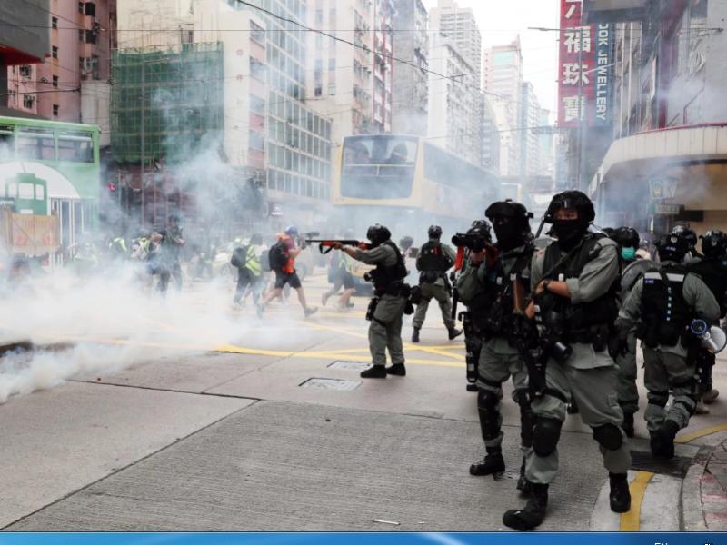 Hàng ngàn người Hong Kong biểu tình phản đối dự luật an ninh - ảnh 1