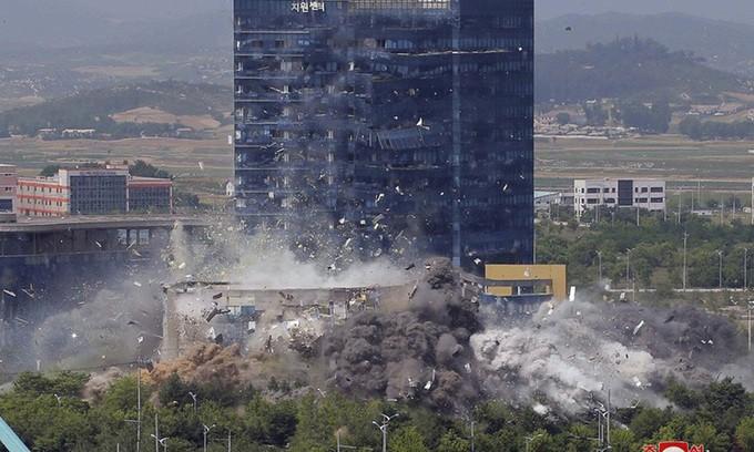 Văn phòng liên lạc liên Triều có thể vẫn chưa bị phá hủy hết  - ảnh 4
