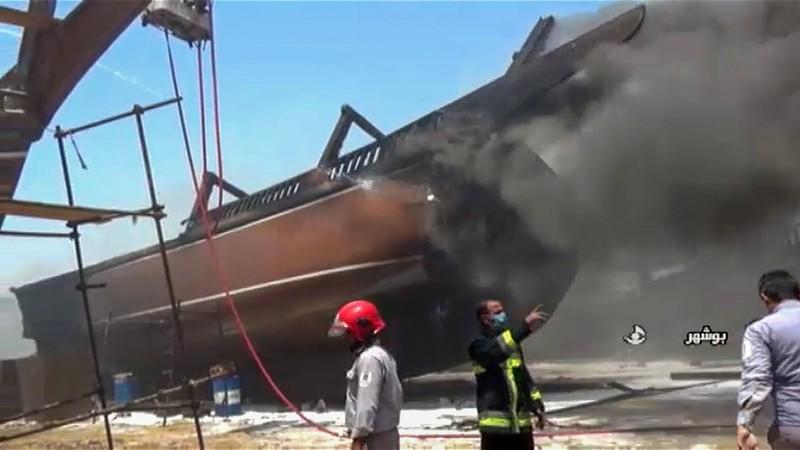 Hỏa hoạn ở nhà máy đóng tàu Iran gây thiệt hại nghiêm trọng - ảnh 1