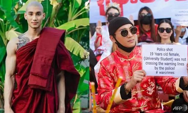 'Sư thầy' đẹp trai của Myanmar bị bắt vì phản đối chính quyền - ảnh 1