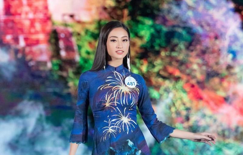 Áo dài hình ảnh đèo Hải Vân giúp Lương Thùy Linh đăng quang - ảnh 6