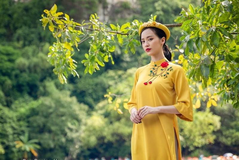 Thong dong xem áo dài ngày tết - ảnh 2