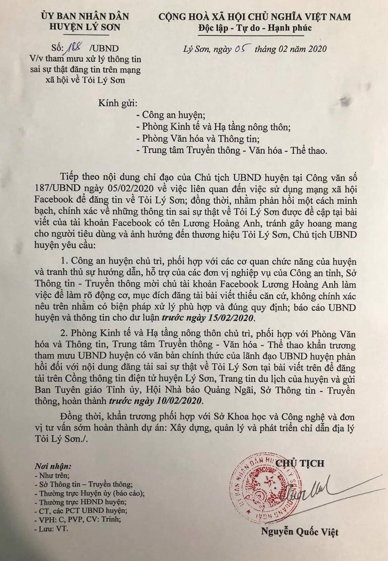 Facebooker Lương Hoàng Anh bị mời làm việc về vụ tỏi Lý Sơn - ảnh 2
