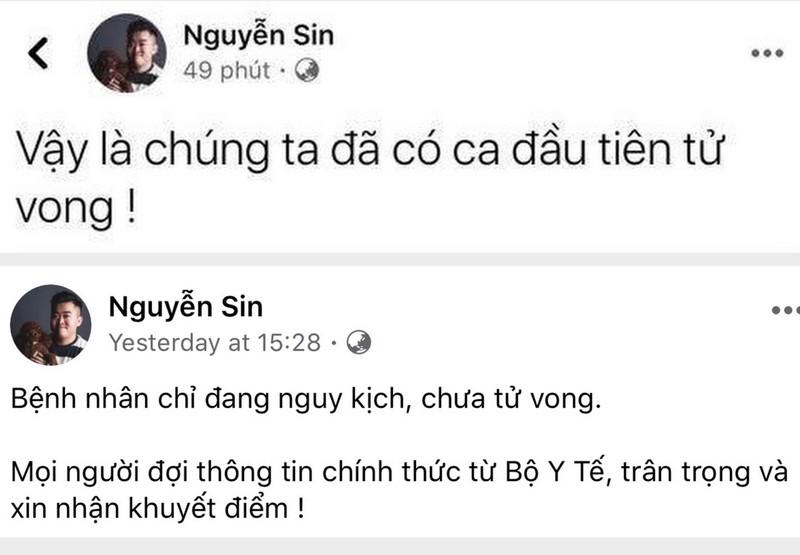 Tung tin có ca tử vong, Nguyễn Sin bị mời làm việc - ảnh 1