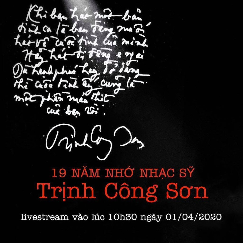 Dịch COVID-19, kỷ niệm ngày mất Trịnh Công Sơn trực tuyến - ảnh 1