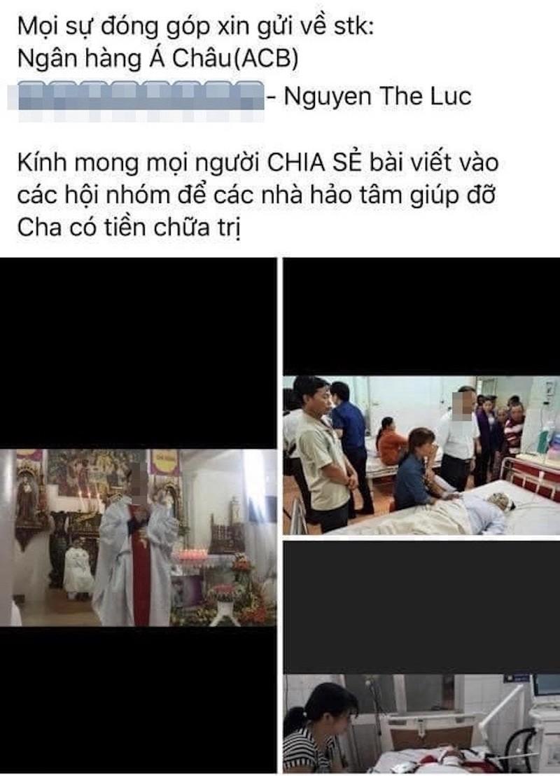 Trang giả Lại Văn Sâm kêu gọi chuyển tiền giúp linh mục bị nạn - ảnh 2