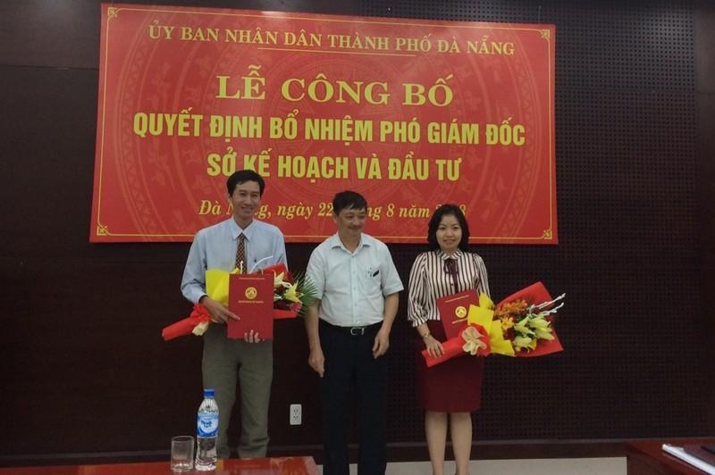Sở Kế hoạch Đà Nẵng có 2 phó giám đốc mới   - ảnh 1