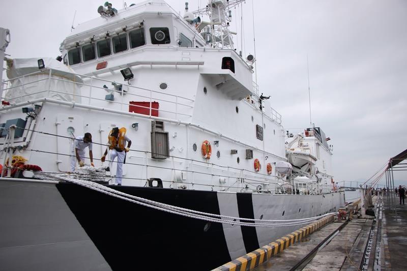 Tàu lực lượng bảo vệ bờ biển Ấn Độ cập cảng Đà Nẵng - ảnh 4