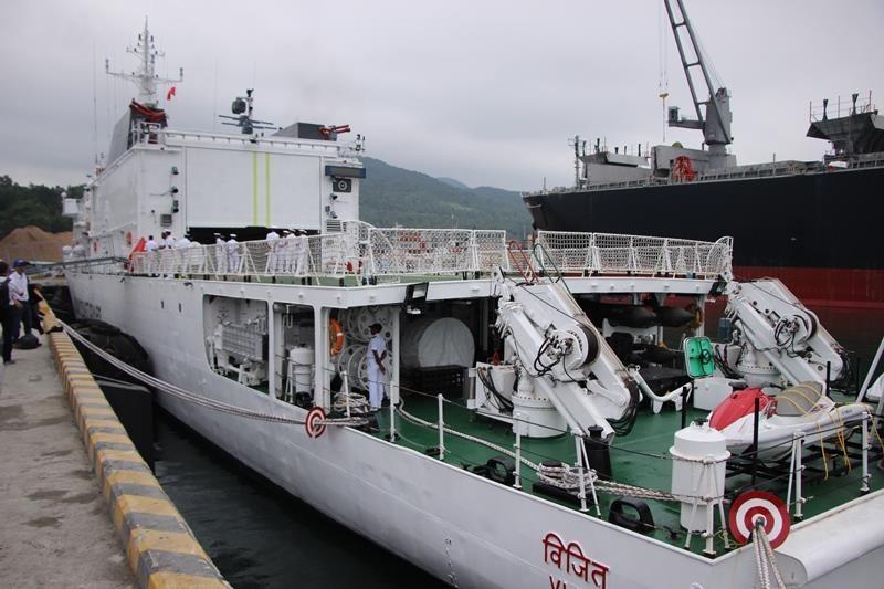 Tàu lực lượng bảo vệ bờ biển Ấn Độ cập cảng Đà Nẵng - ảnh 3