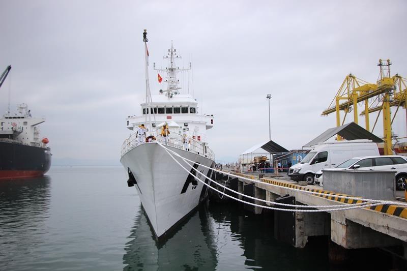 Tàu lực lượng bảo vệ bờ biển Ấn Độ cập cảng Đà Nẵng - ảnh 1