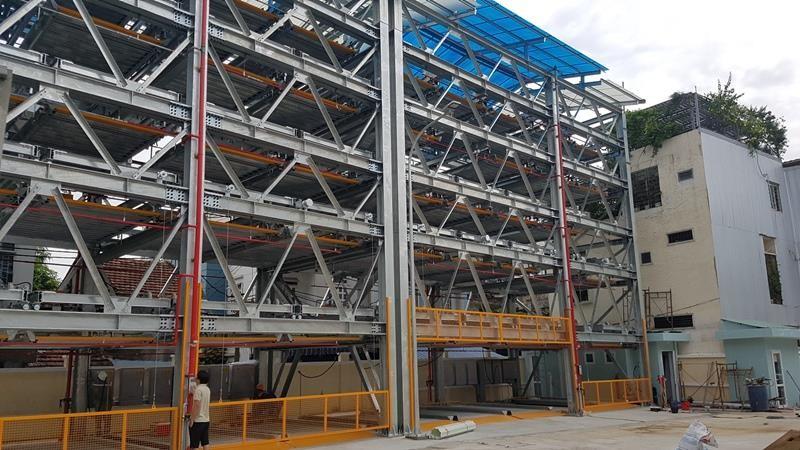 Mục sở thị bãi đỗ xe lắp ghép công nghệ Nhật tại Đà Nẵng - ảnh 1