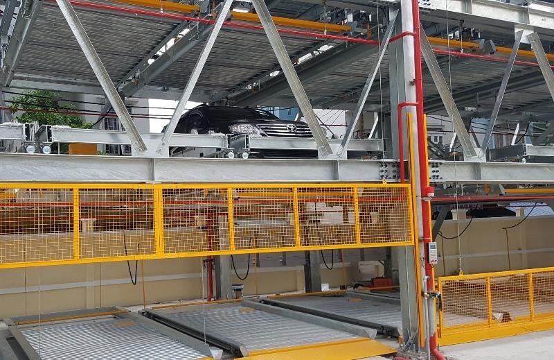 Mục sở thị bãi đỗ xe lắp ghép công nghệ Nhật tại Đà Nẵng - ảnh 7
