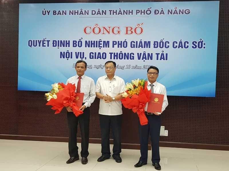 Đà Nẵng: Sở Nội vụ và Sở GTVT có 2 tân phó giám đốc - ảnh 1