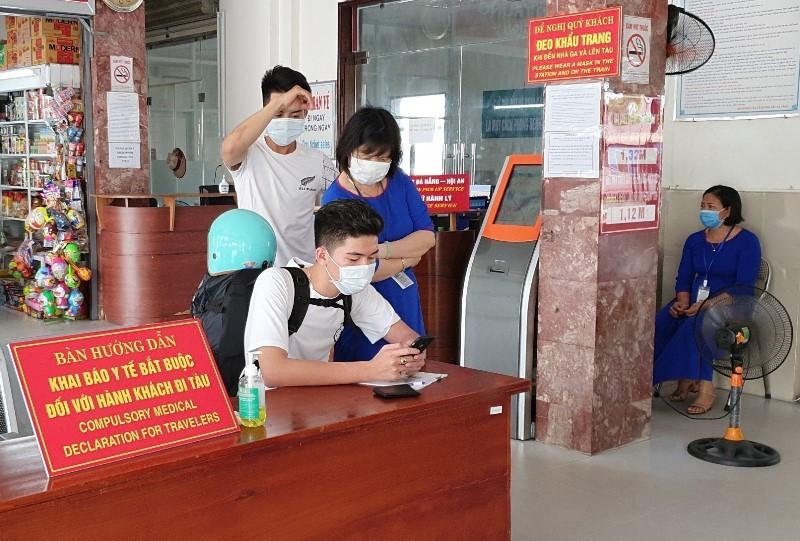 Quy trình nghiêm ngặt phòng COVID-19 tại ga Đà Nẵng - ảnh 2
