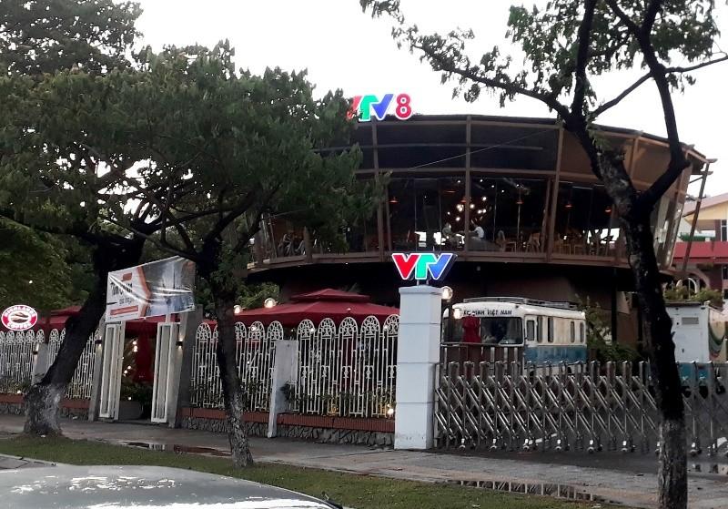 Quán cà phê xây không phép trong khuôn viên VTV8 bị xử phạt - ảnh 1