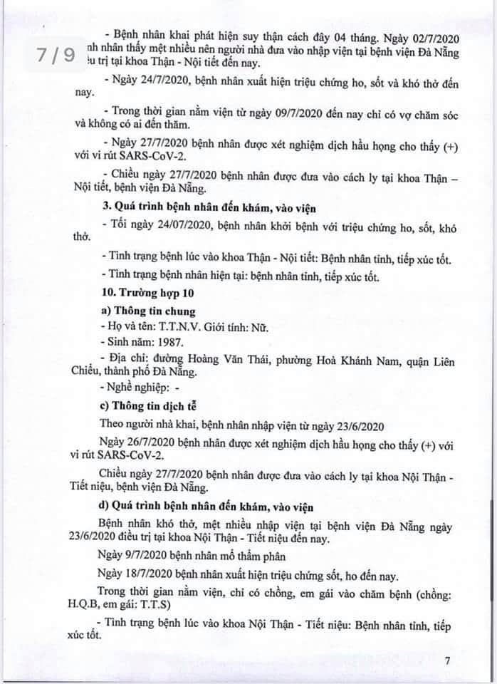 Lịch trình 11 bệnh nhân COVID-19 tại Đà Nẵng vừa công bố - ảnh 7