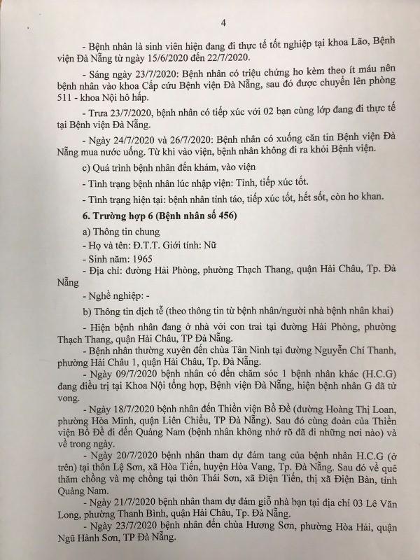 Đà Nẵng: 8 bệnh nhân COVID-19 mới công bố đã đi những đâu? - ảnh 4