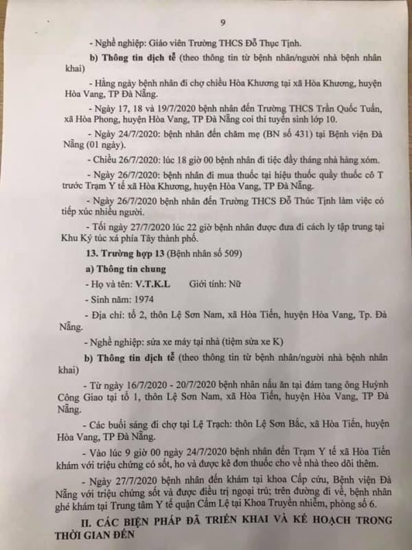 Những nơi 13 ca COVID-19 mới tại Đà Nẵng từng đến - ảnh 9