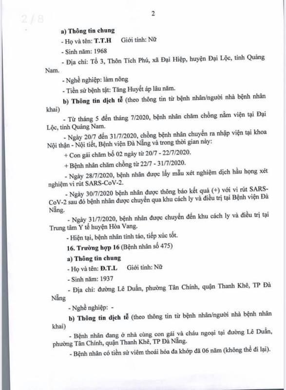 Đà Nẵng thông tin về lịch trình phức tạp của 10 ca COVID-19 - ảnh 2